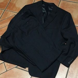Ralph Lauren 50R Suit Black Wool-4 Season